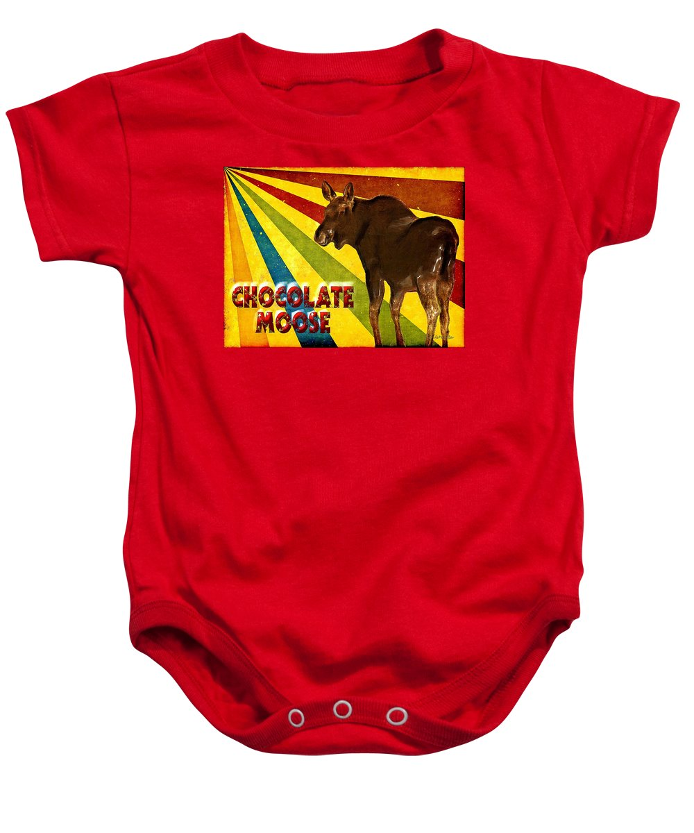 Moose Baby Onesie featuring the painting Chocolate Moose by RC DeWinter