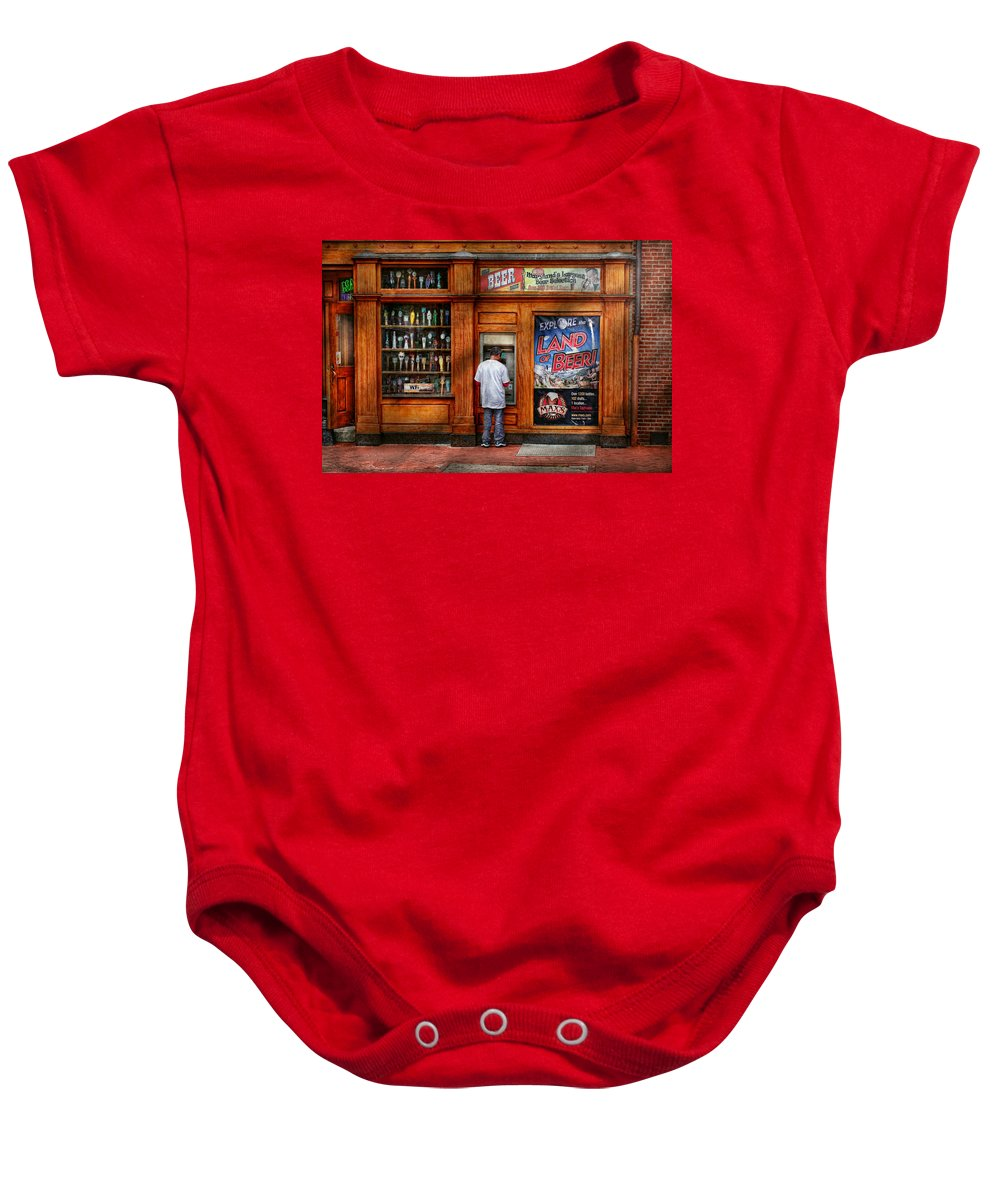 Baltimore Baby Onesie featuring the photograph City - Baltimore Md - Explore The Land Of Beer by Mike Savad