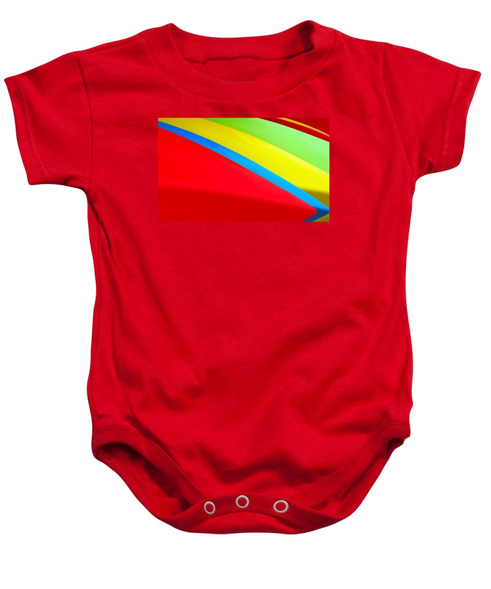 Red Baby Onesie featuring the photograph Color Contrast by Nadine Lewis