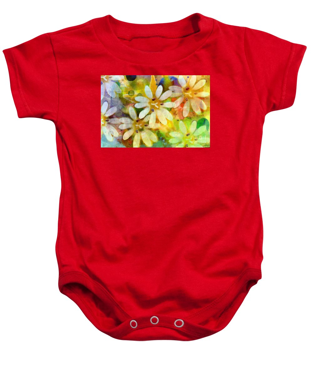 Nature Baby Onesie featuring the photograph Colorful Floral Abstract I by Debbie Portwood