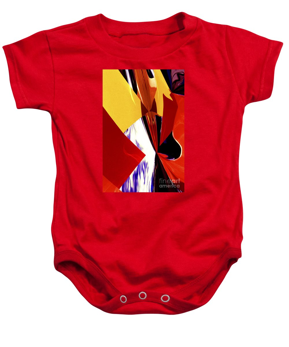 Mylar Reflections Baby Onesie featuring the photograph Colors And Shapes by Paul W Faust - Impressions of Light