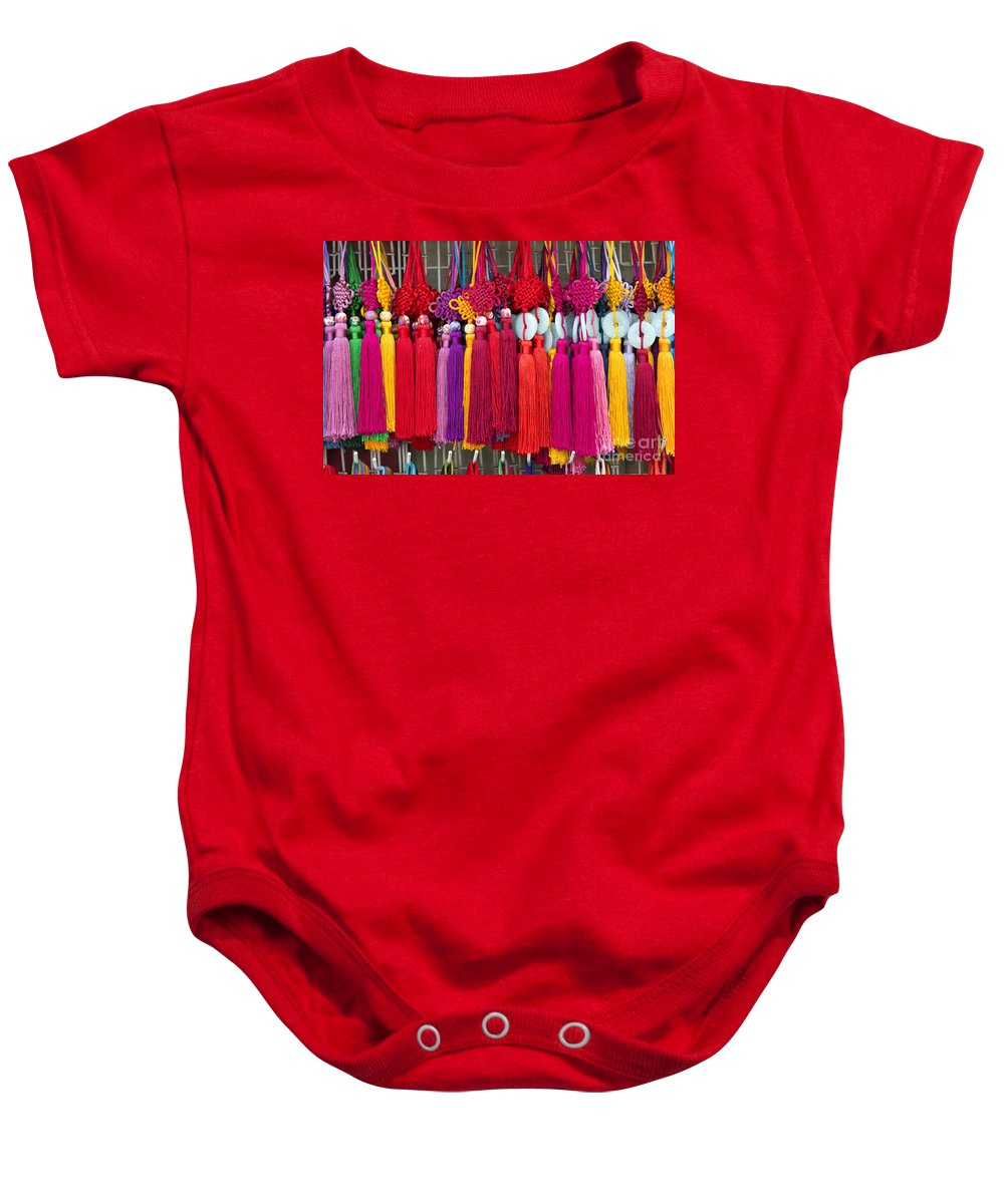 Art Baby Onesie featuring the photograph Colourful Souvenirs In China by Jacek Malipan