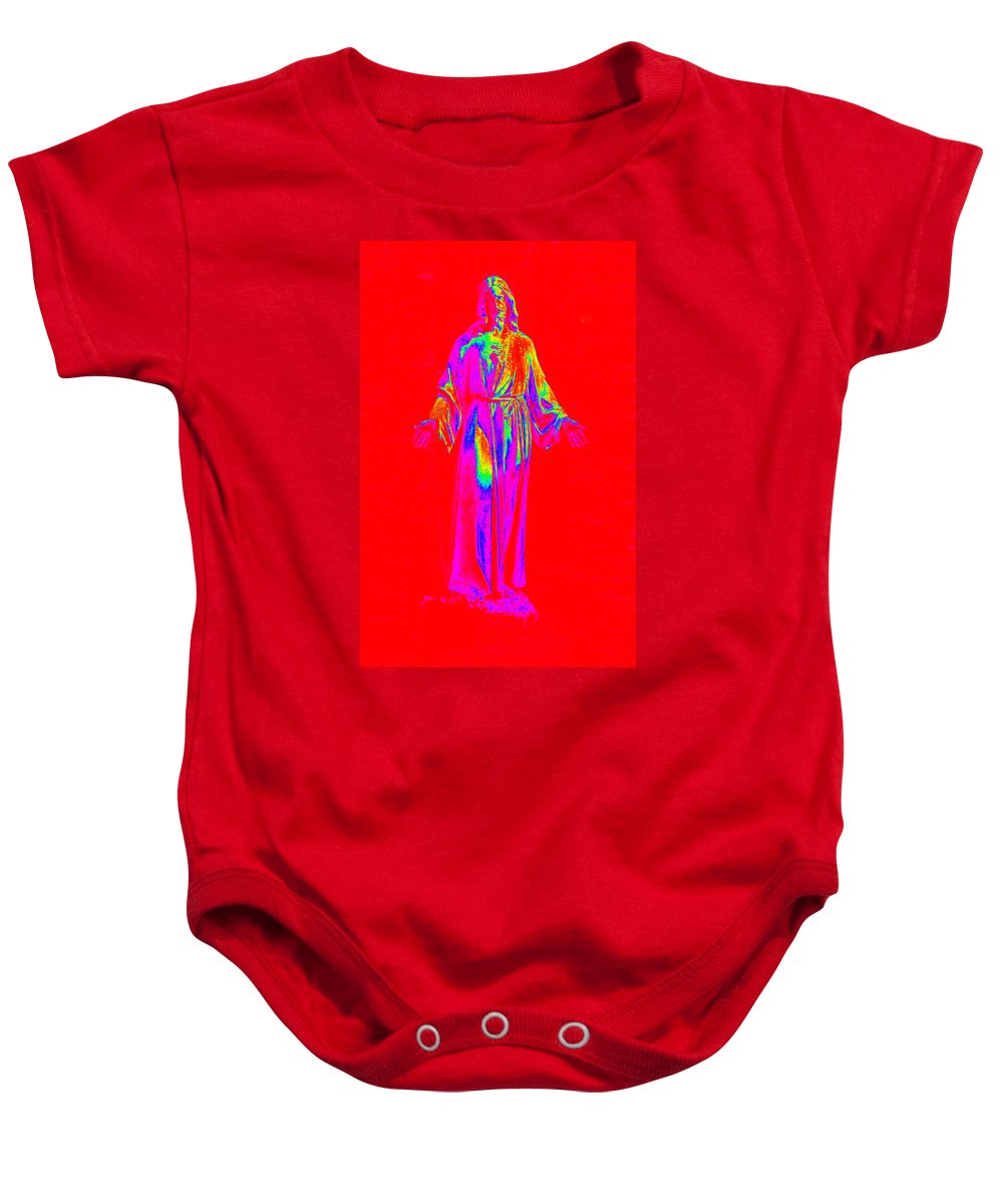 Jesus.christ Baby Onesie featuring the photograph Come Unto Me by Peter Lloyd