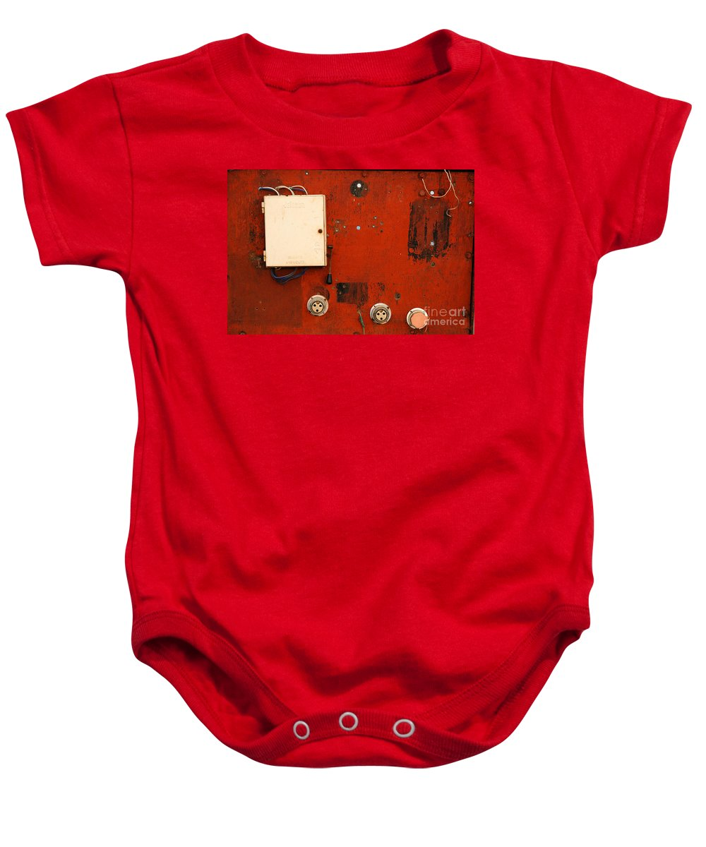Red Baby Onesie featuring the photograph Contrast by Dattaram Gawade
