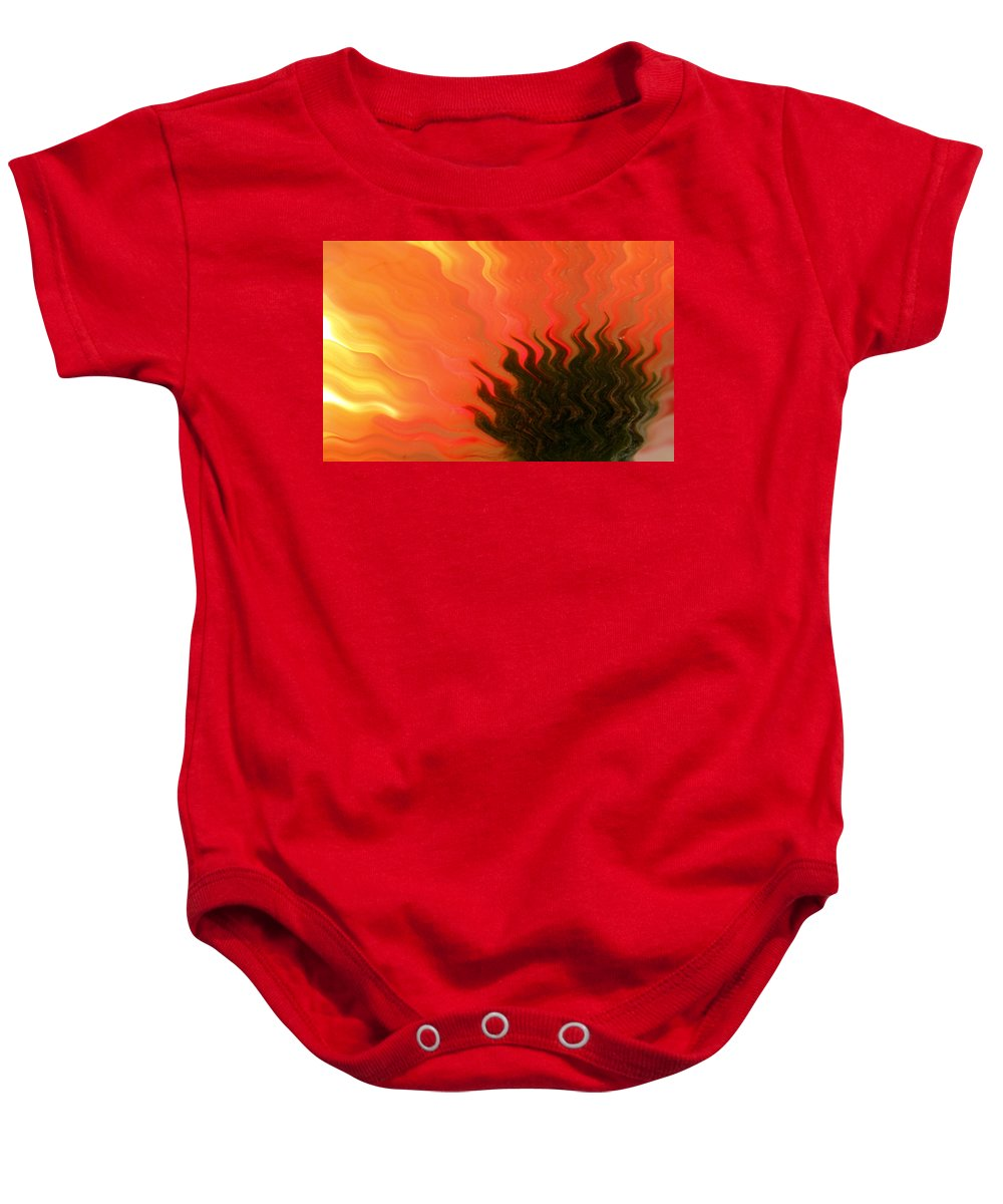 Daisy Baby Onesie featuring the photograph Dance Of The Daisy by Krissy Katsimbras