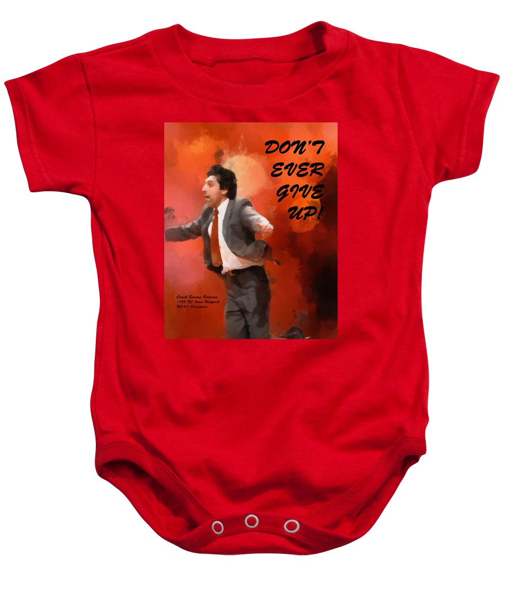 Popular Baby Onesie featuring the digital art Don't Ever Give Up by Paulette B Wright