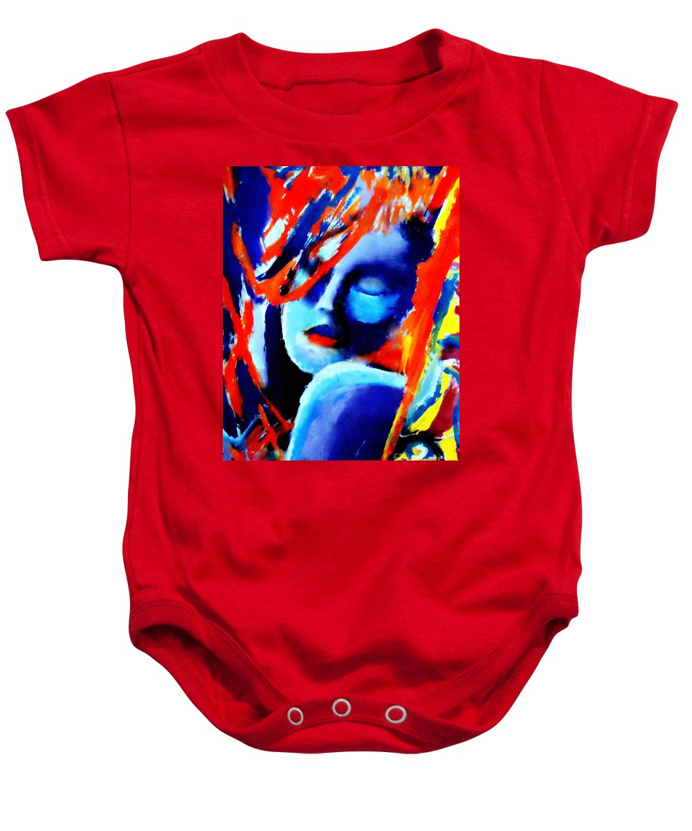 Abstract Nudes Baby Onesie featuring the painting Dream Within A Dream by Helena Wierzbicki