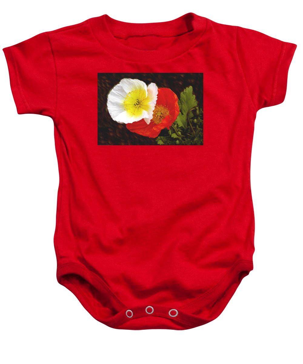 Icelandic Poppy Baby Onesie featuring the photograph Eager Poppies by Ben and Raisa Gertsberg