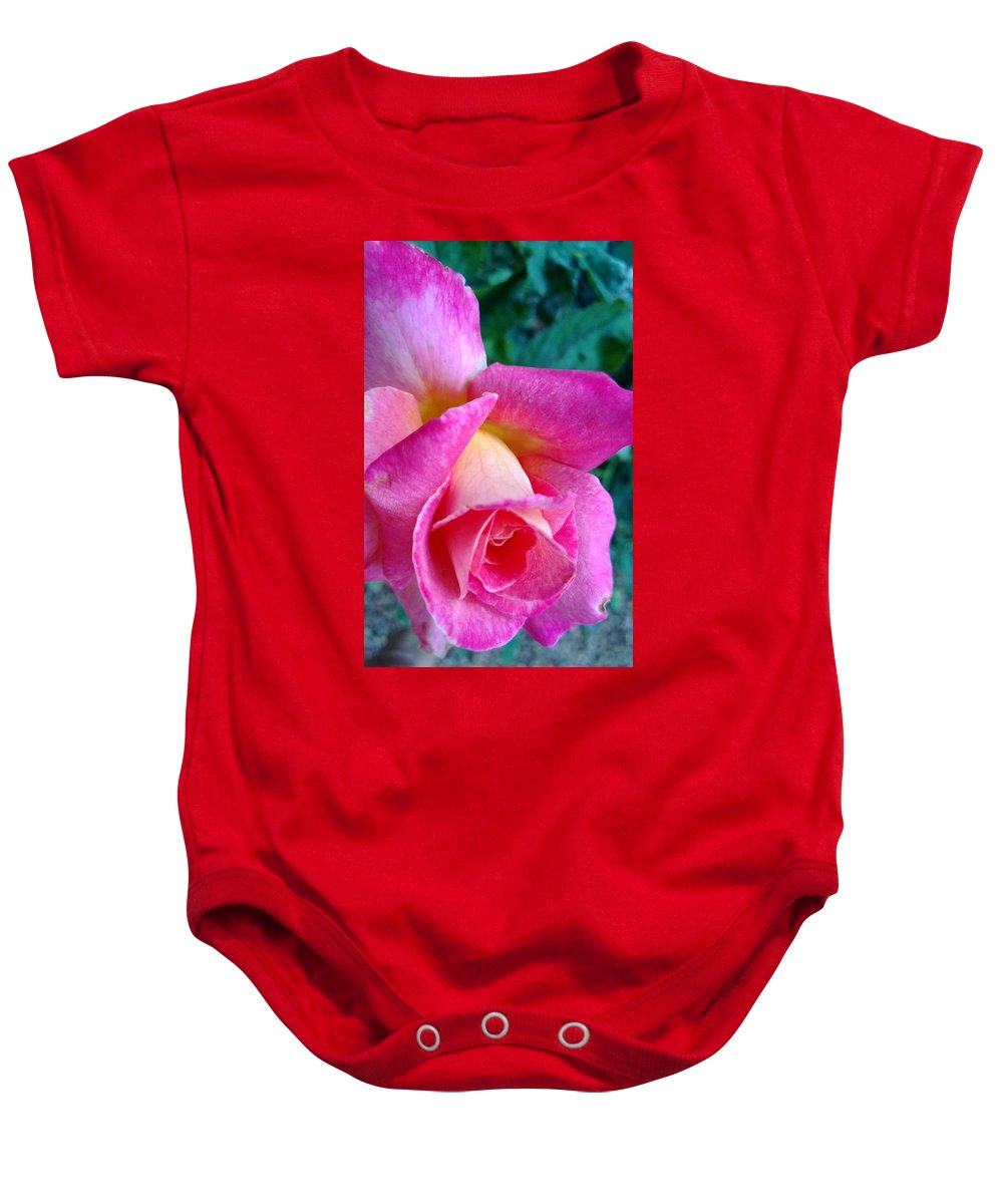 Pink Baby Onesie featuring the photograph Evening Bloom by Claudia Goodell