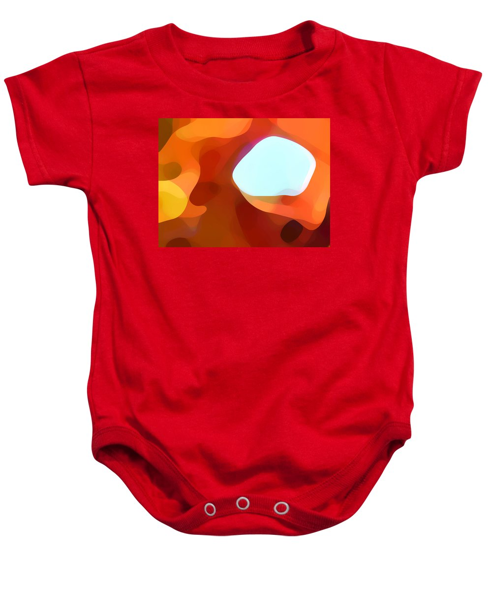 Abstract Baby Onesie featuring the painting Fall Passage by Amy Vangsgard