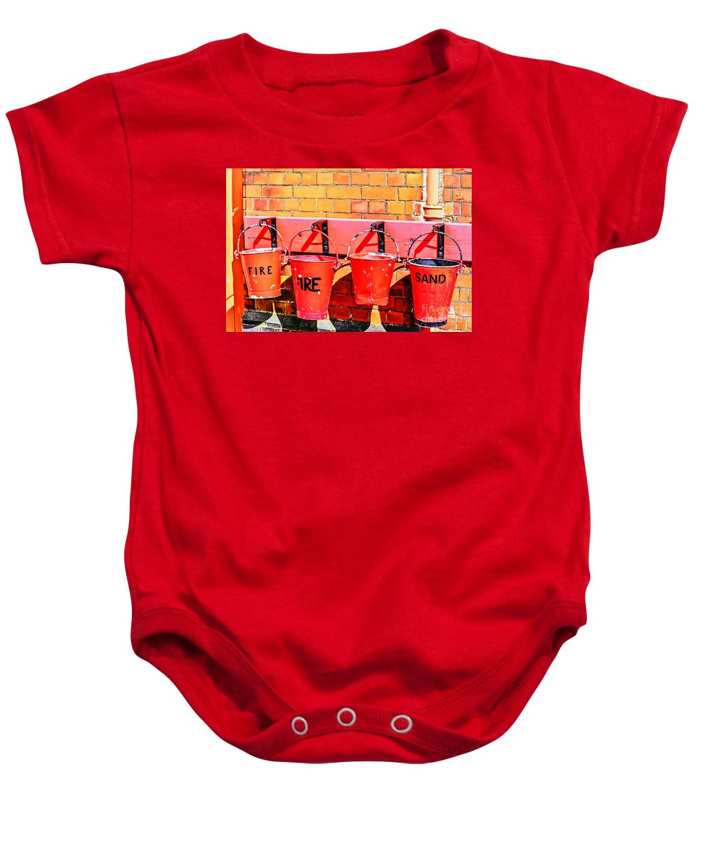 Travel Baby Onesie featuring the photograph Fire Safety by Elvis Vaughn