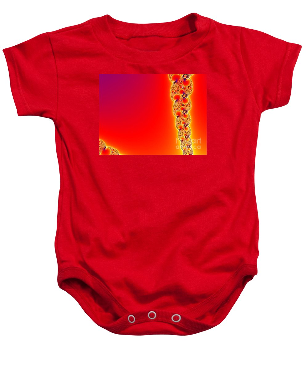 Baby Onesie featuring the digital art Fractal 14 by Taylor Webb