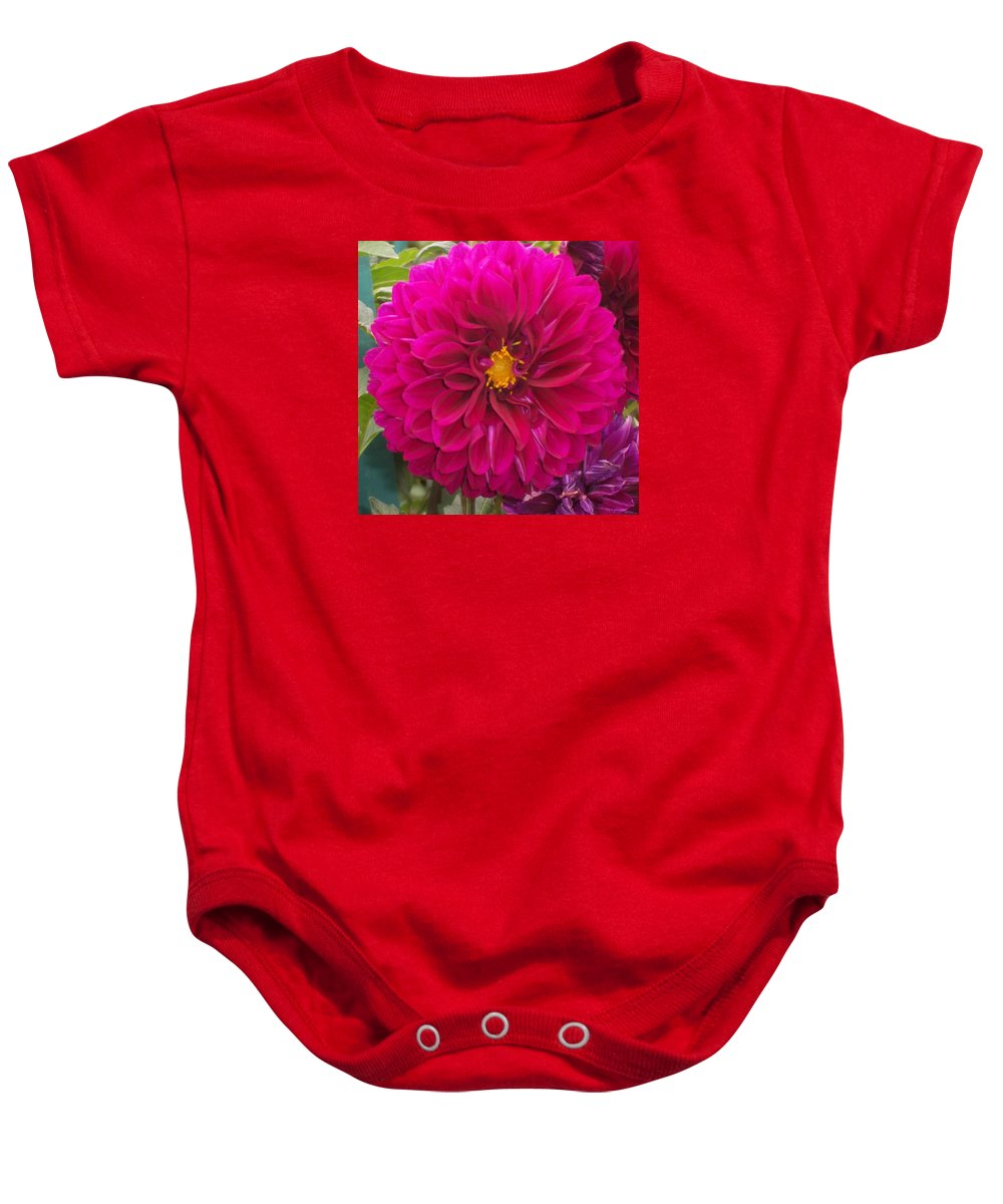 Flowers Baby Onesie featuring the photograph Fushia by Catherine Gagne