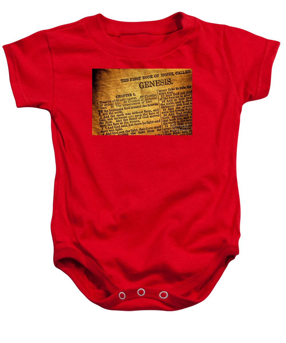 Genesis Baby Onesie featuring the photograph Genesis by Olivier Le Queinec