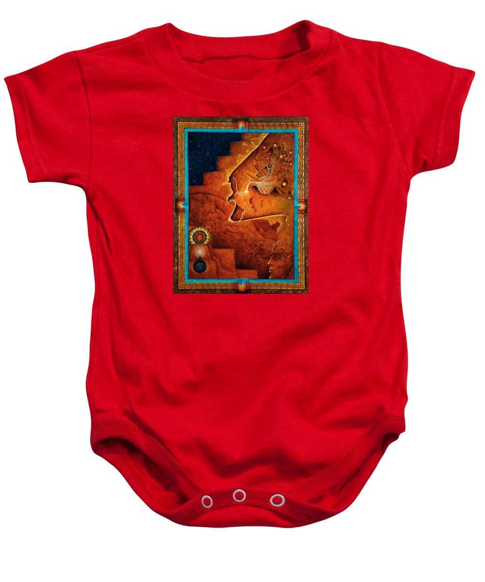 Native American Baby Onesie featuring the painting Gifts Of The Spirit by Kevin Chasing Wolf Hutchins