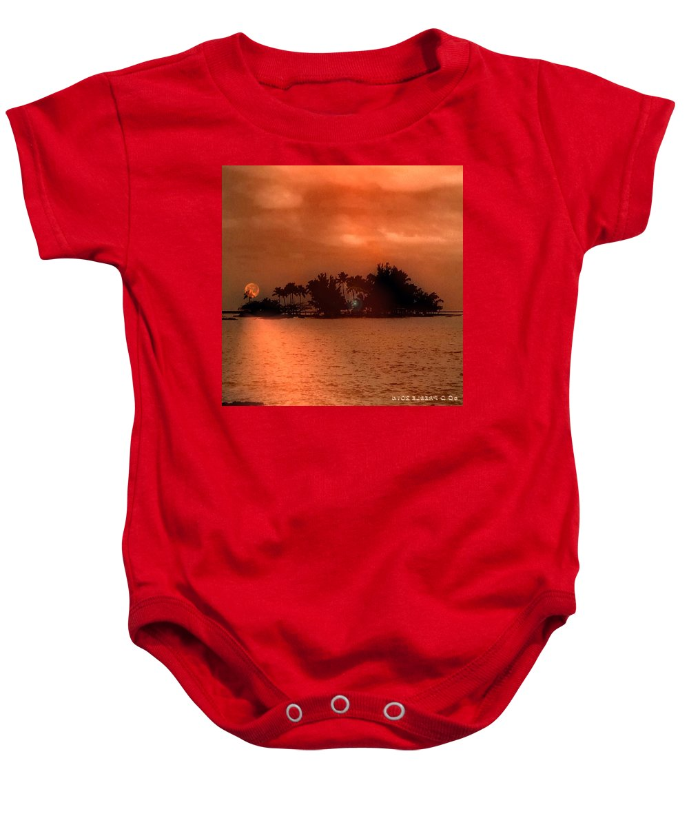 Hawaiiana Baby Onesie featuring the digital art Hawaiiana 10 by D Preble