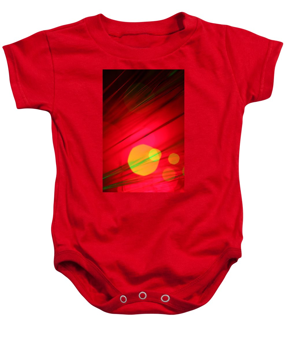 Abstract Baby Onesie featuring the photograph Here Comes The Sun by Dazzle Zazz