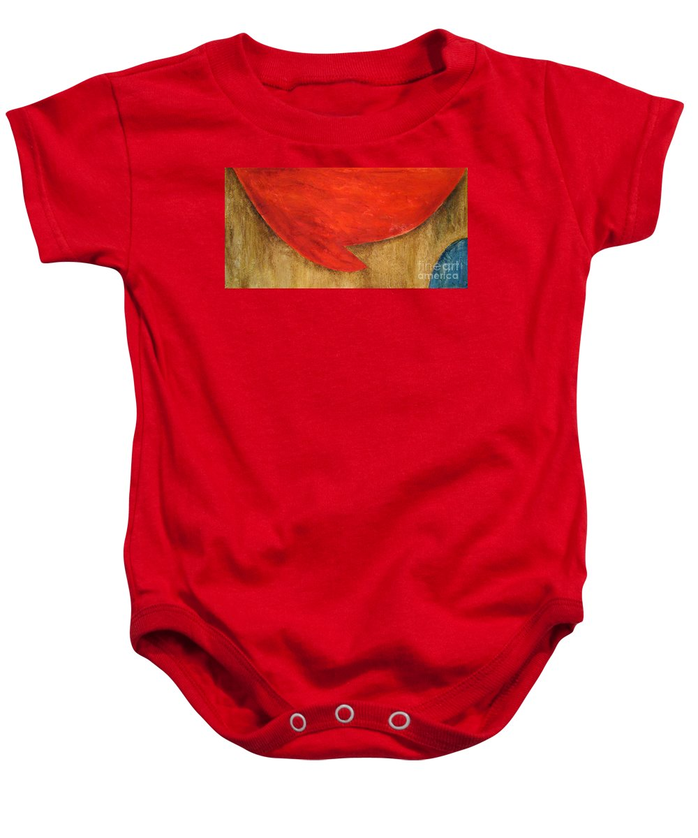 Modern Art Baby Onesie featuring the painting Hot Spot by Silvana Abel