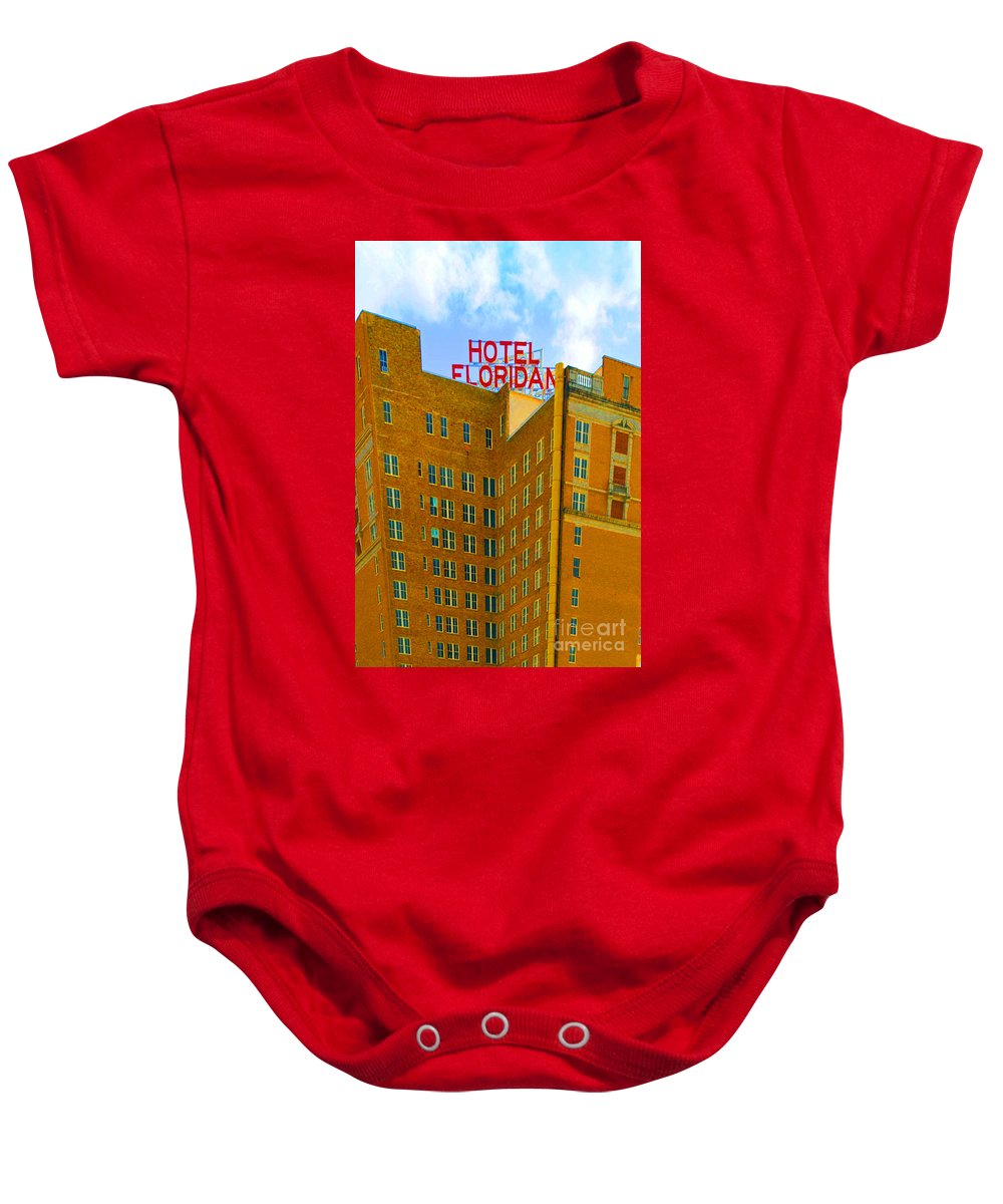 Hotel Baby Onesie featuring the photograph Hotel Floridan by Jost Houk