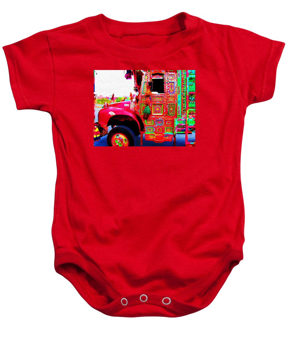 Baby Onesie featuring the digital art Impressionistic Photo Paint Ls 017 by Catf