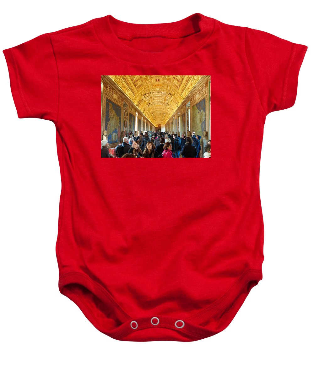 2013. Baby Onesie featuring the photograph In The Hall Of Maps by Jouko Lehto