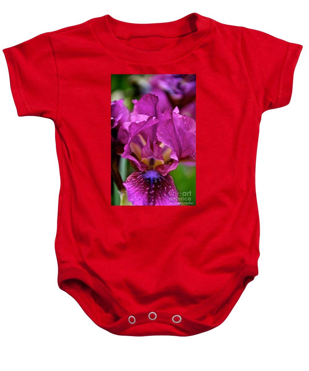 Flower Baby Onesie featuring the photograph Internal Affair by Susan Herber