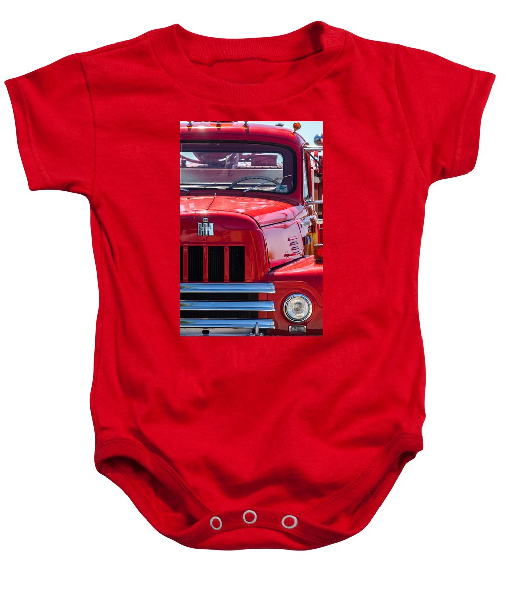1950s Baby Onesie featuring the photograph International Harvester R-185 by Ed Gleichman