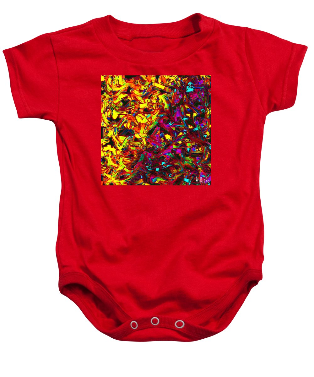 Interacial Baby Onesie featuring the digital art Interracial Colours by Alec Drake