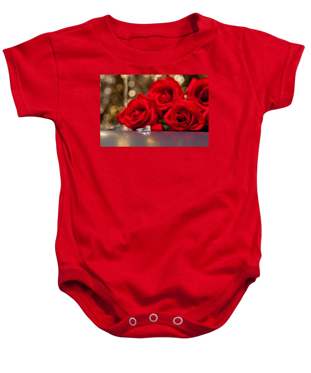 Background Baby Onesie featuring the photograph Jewelry And Roses by U Schade
