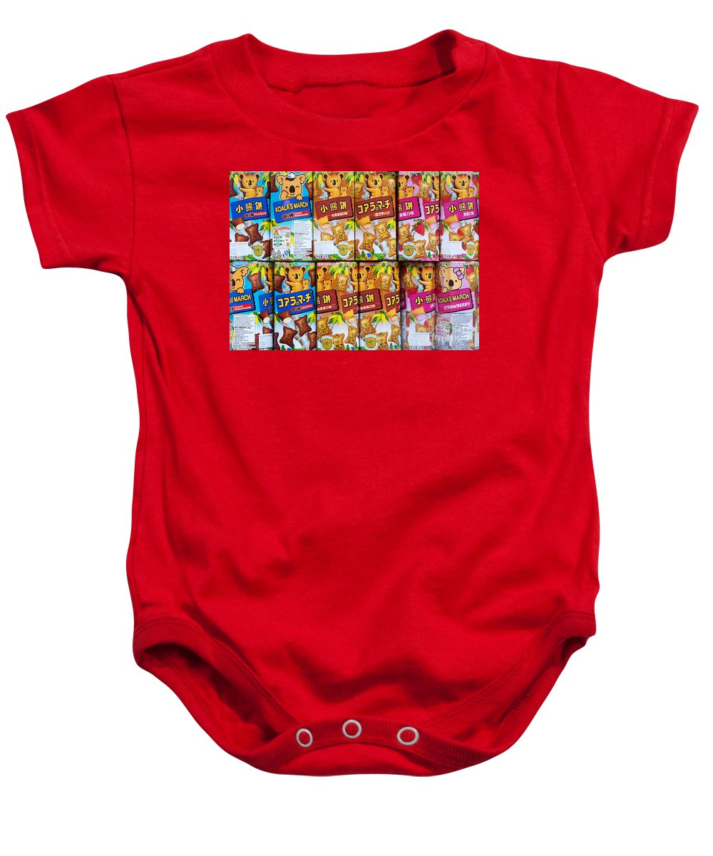 Koalas Baby Onesie featuring the photograph Koalas March Biscuits by Rick Piper Photography