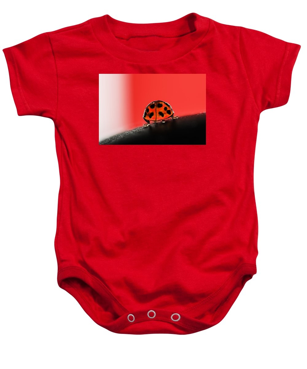 Ladybug Baby Onesie featuring the photograph Lady Got Back by Susan Capuano