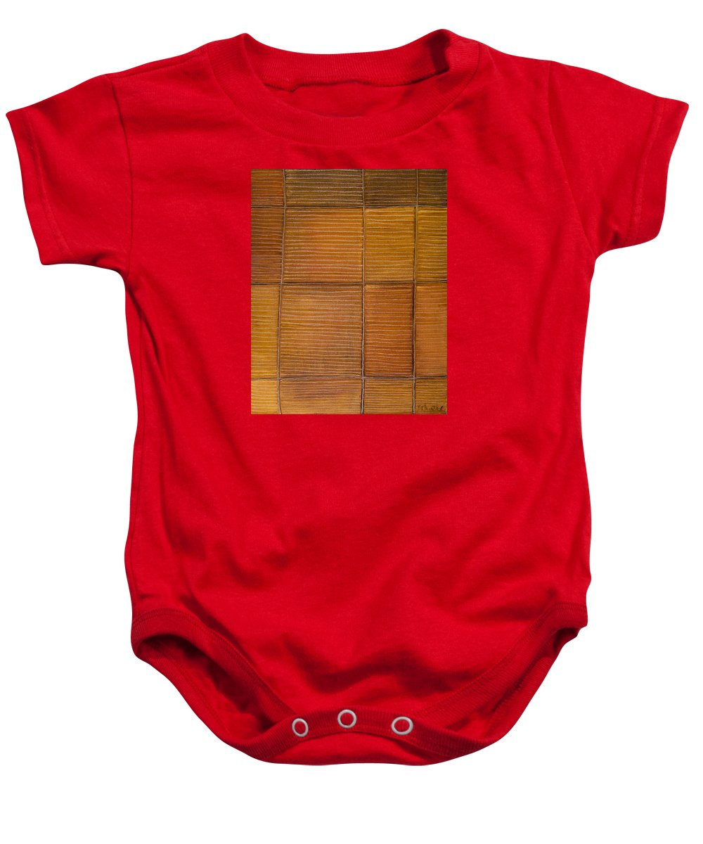 Library Baby Onesie featuring the painting Library by Judith Chantler