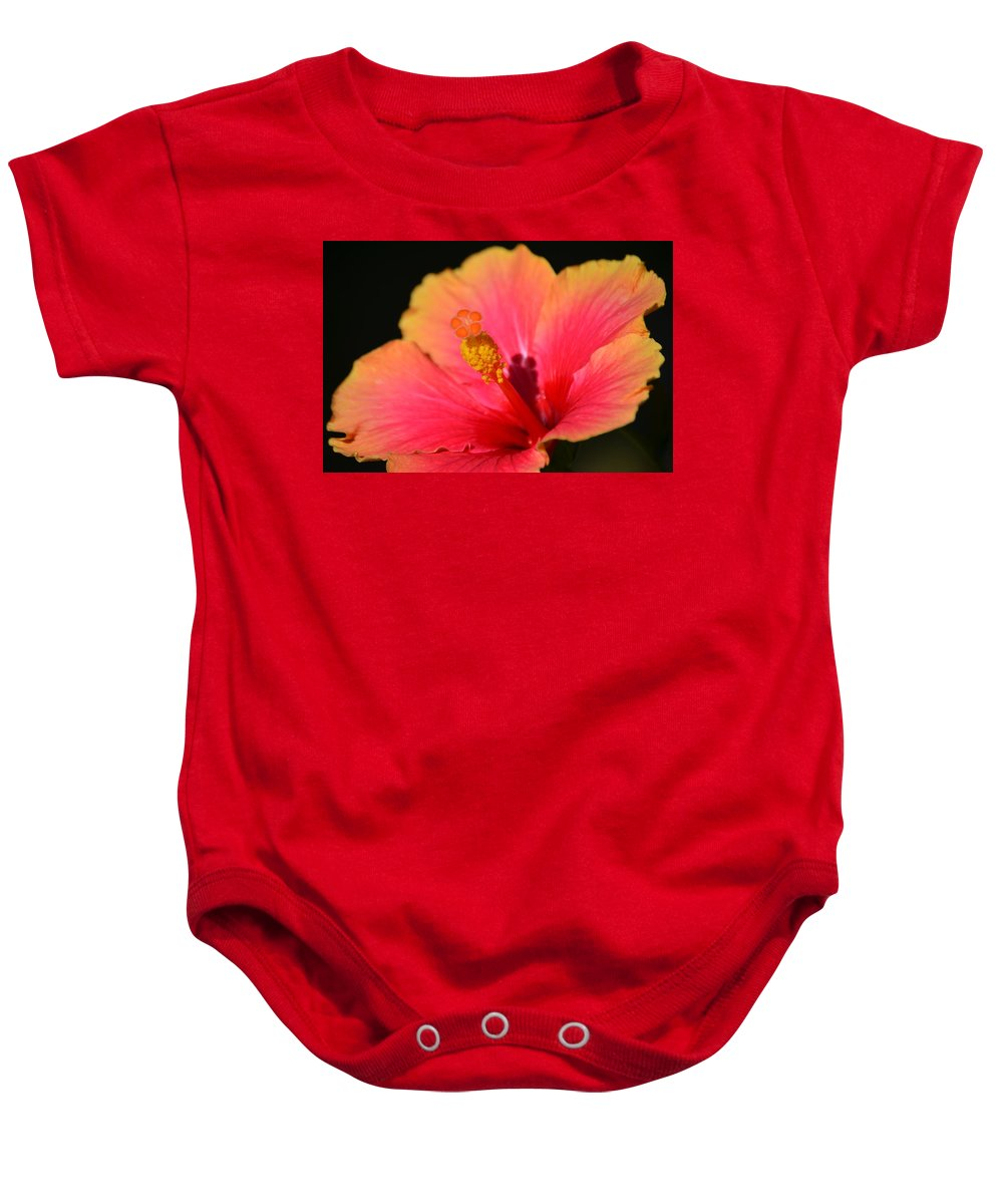 Flower Baby Onesie featuring the photograph Lone Hibiscus by Starla Shepherd