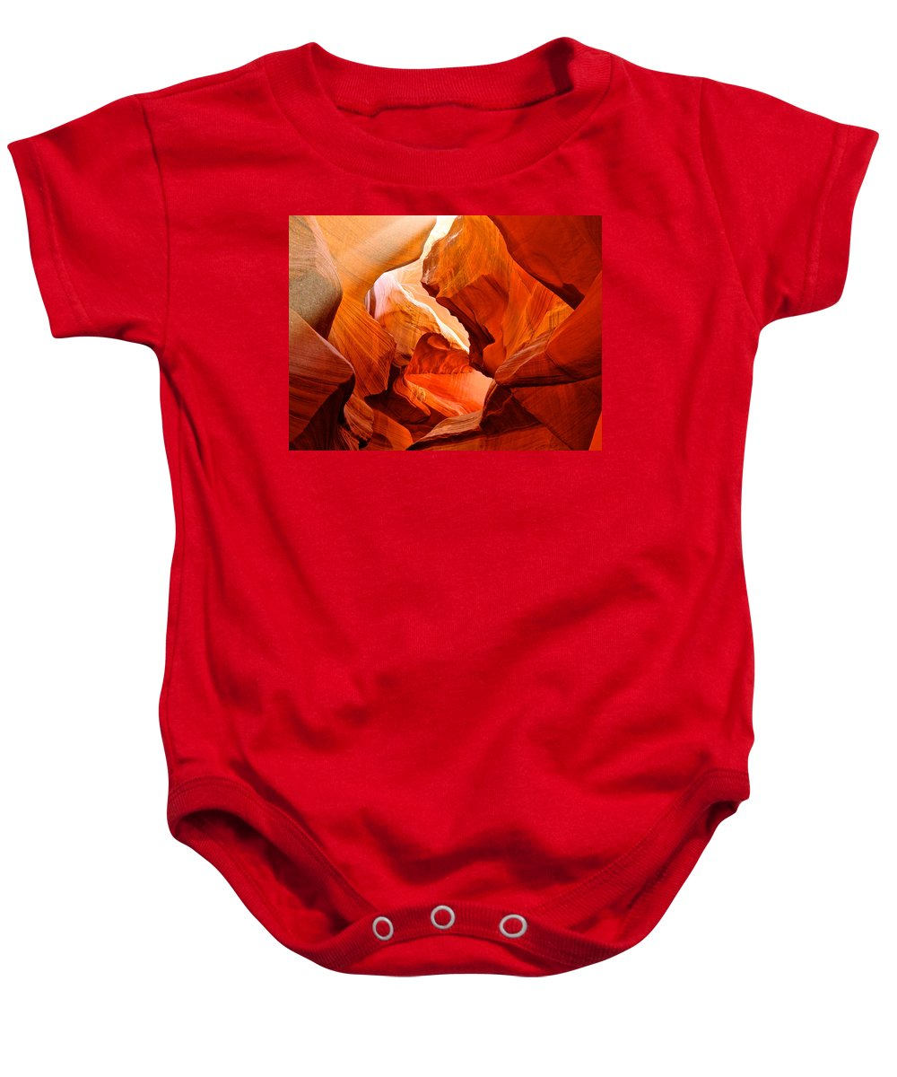 Manger Scene Baby Onesie featuring the photograph Manger Scene In Lower Antelope Canyon-az by Ruth Hager