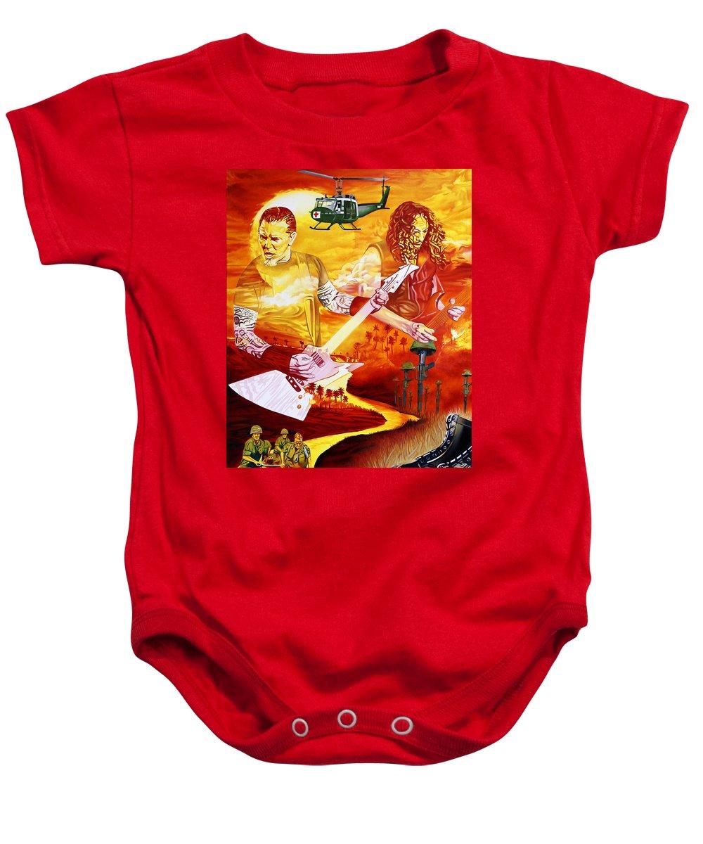 66404b9cc Metallica Baby Onesie featuring the painting Metallica-one by Joshua Morton