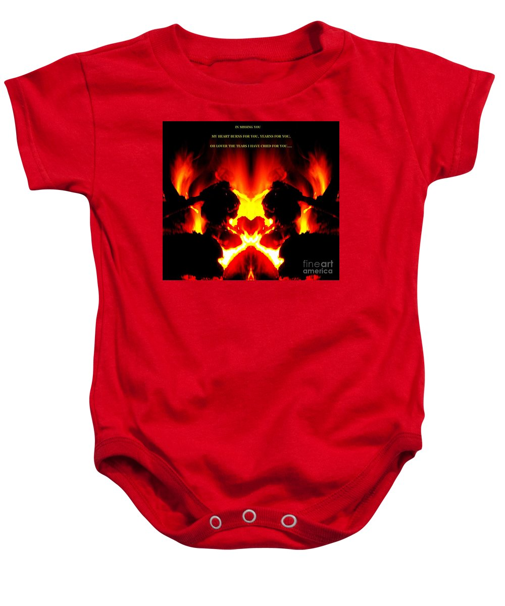 Blair Stuart Baby Onesie featuring the photograph Missing You by Blair Stuart