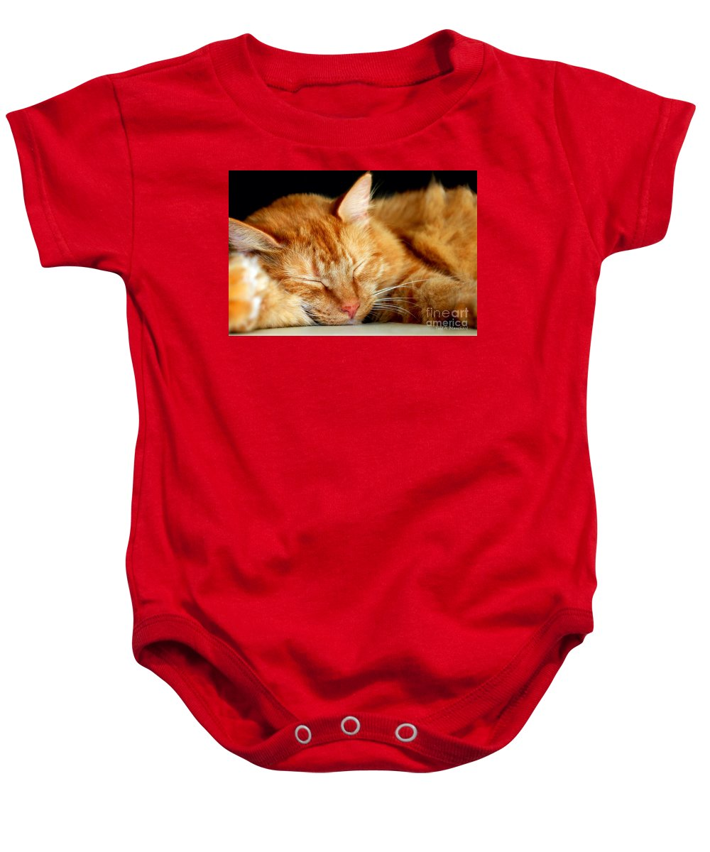Feline Baby Onesie featuring the photograph Naptime by Todd Blanchard