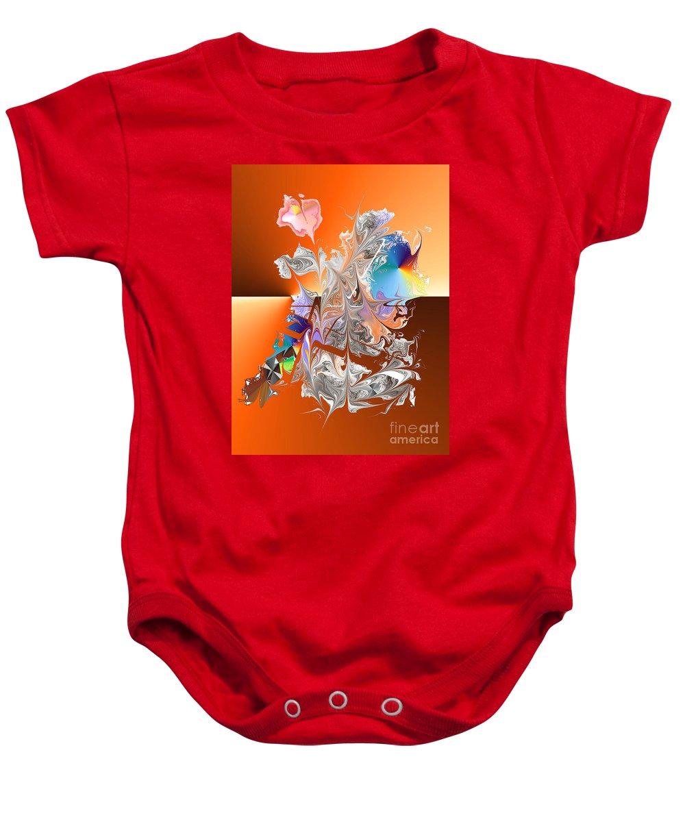 Baby Onesie featuring the digital art No. 341 by John Grieder