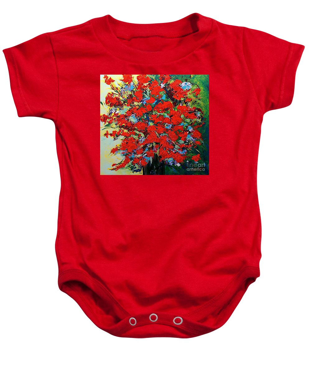 Landscape Baby Onesie featuring the painting One Of A Kind by Allan P Friedlander