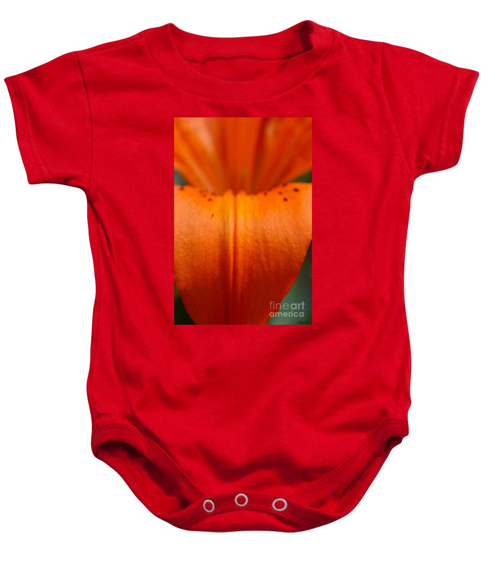 Flower Baby Onesie featuring the photograph Orange Lily by Carol Lynch
