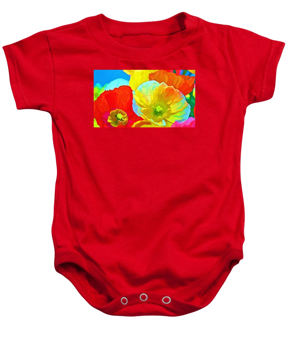 Landscape Baby Onesie featuring the digital art Paper Flowers by Peggy Gabrielson
