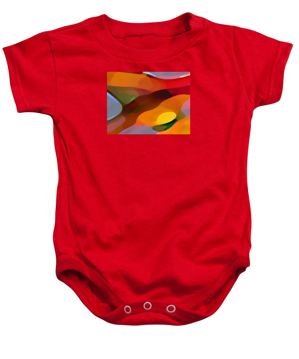 Abstract Baby Onesie featuring the painting Paradise Found by Amy Vangsgard