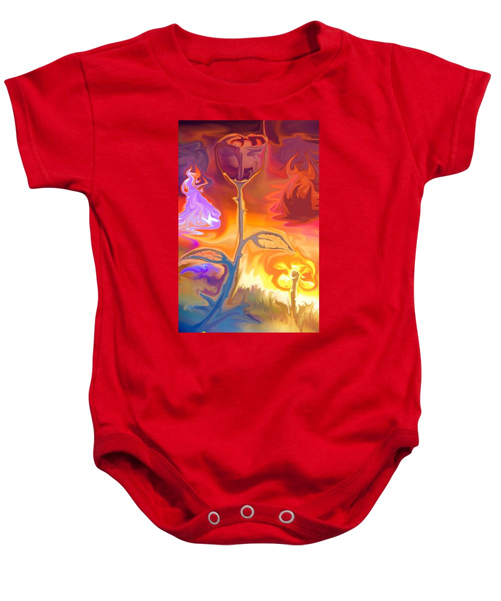 Bloom Painting Baby Onesie featuring the photograph Passion by Sotiris Filippou