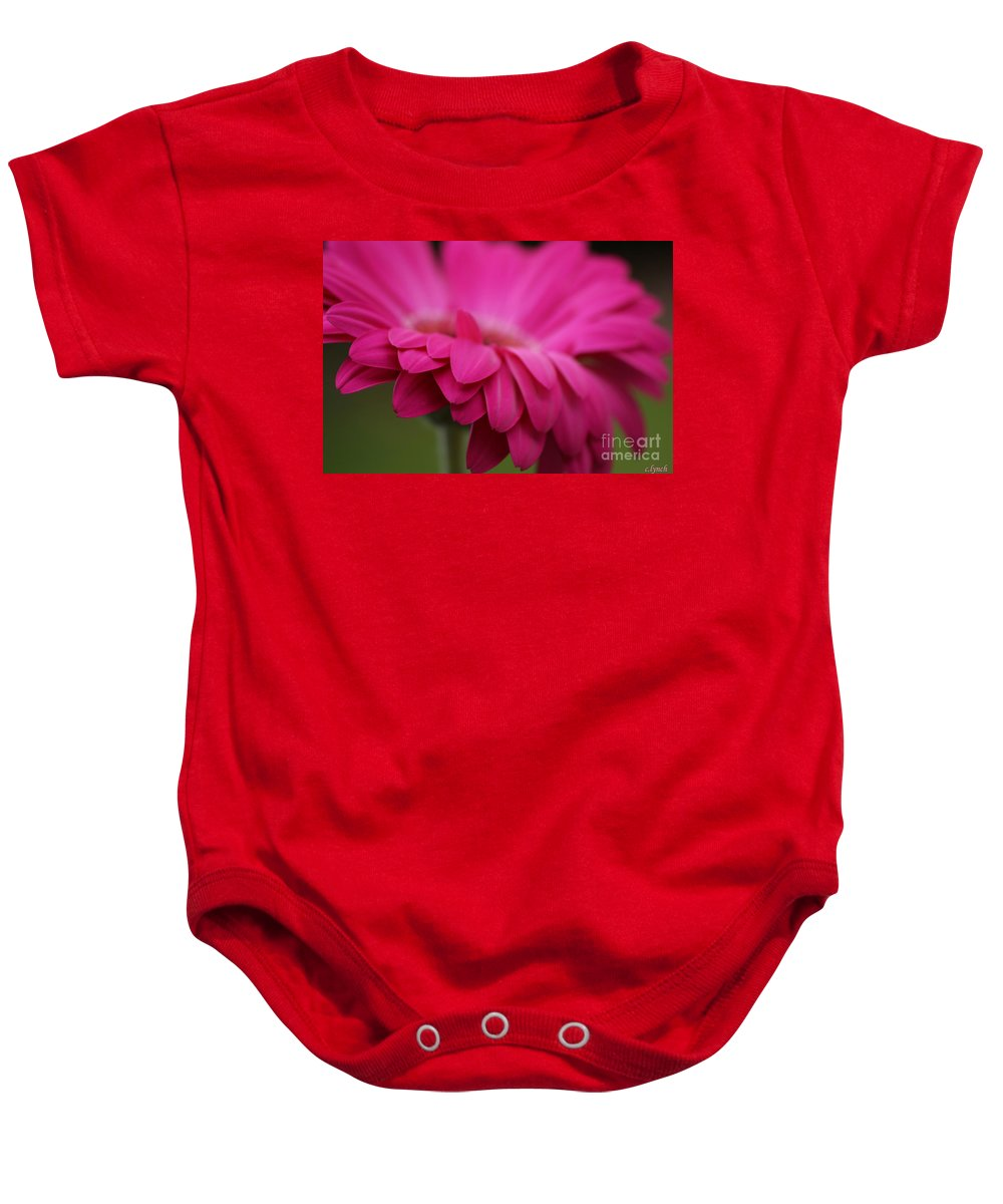 Pink Baby Onesie featuring the photograph Petals Pink by Carol Lynch