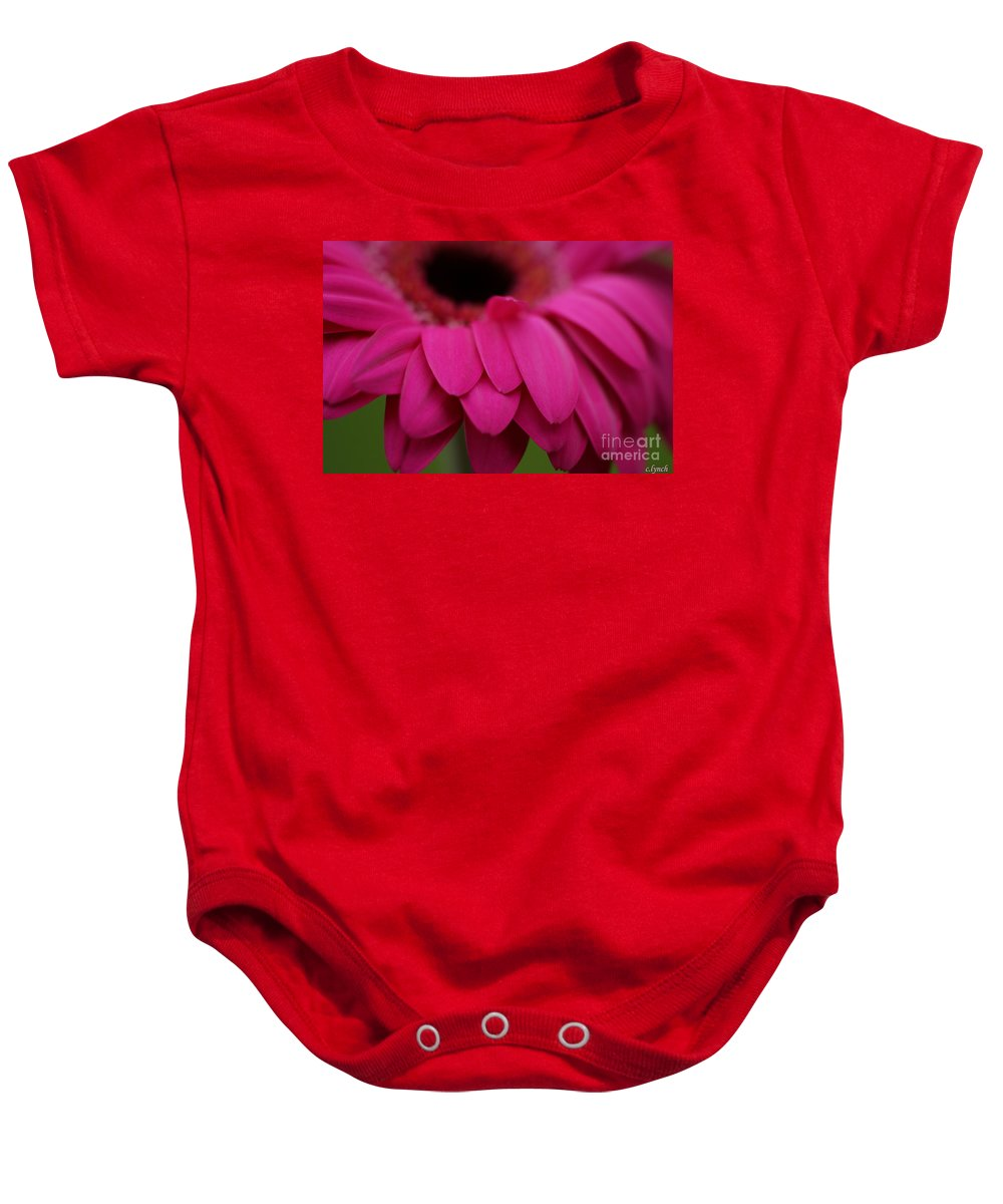 Pink Baby Onesie featuring the photograph Pink Petals by Carol Lynch