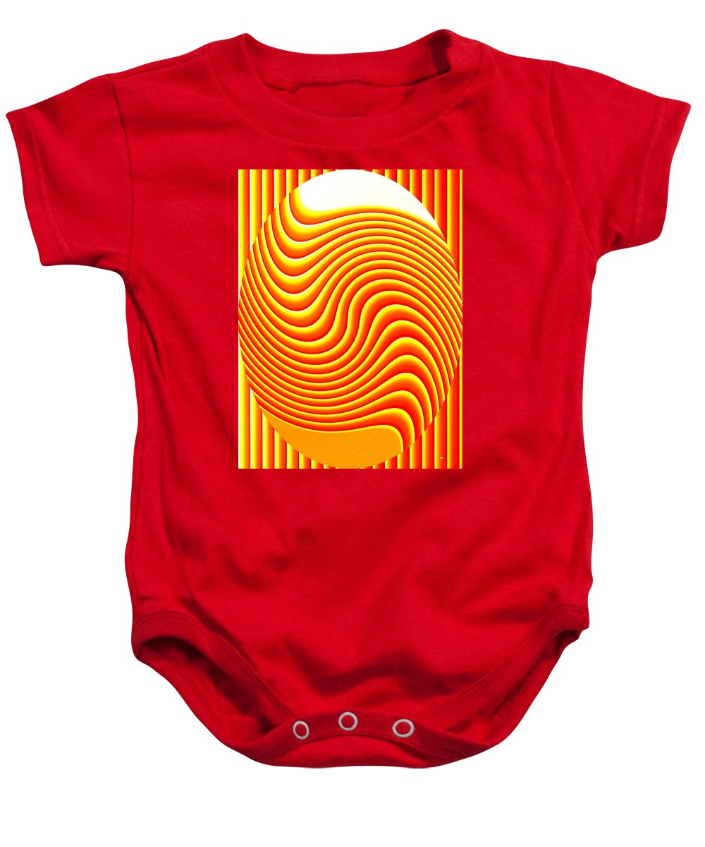 Abstract Baby Onesie featuring the digital art Pizzazz 45 by Will Borden