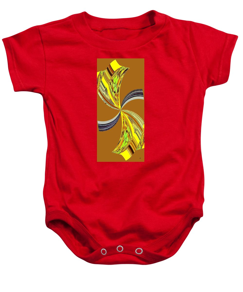 Abstract Baby Onesie featuring the digital art Pizzazz 46 by Will Borden