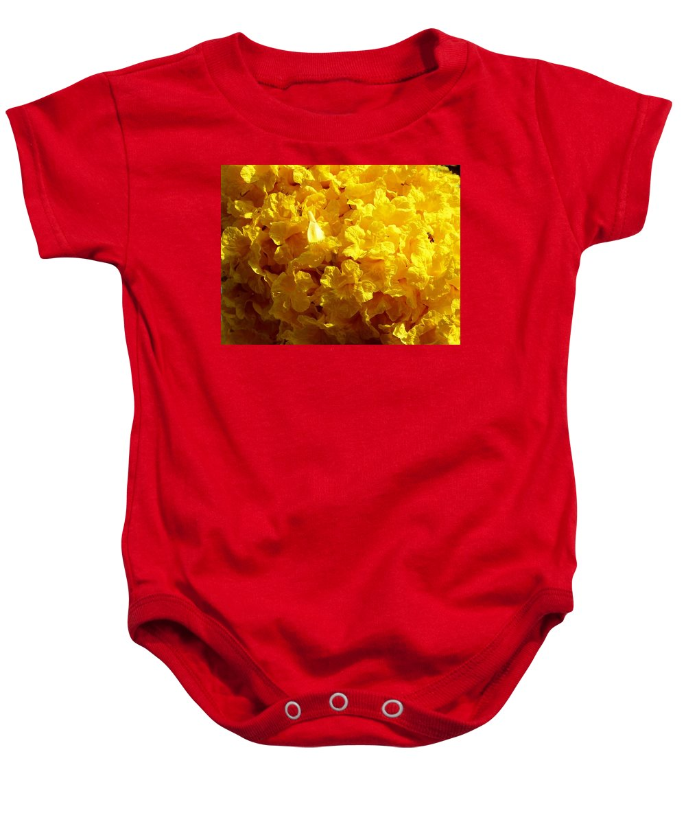 Color Baby Onesie featuring the photograph Poui Flowers by Amar Sheow