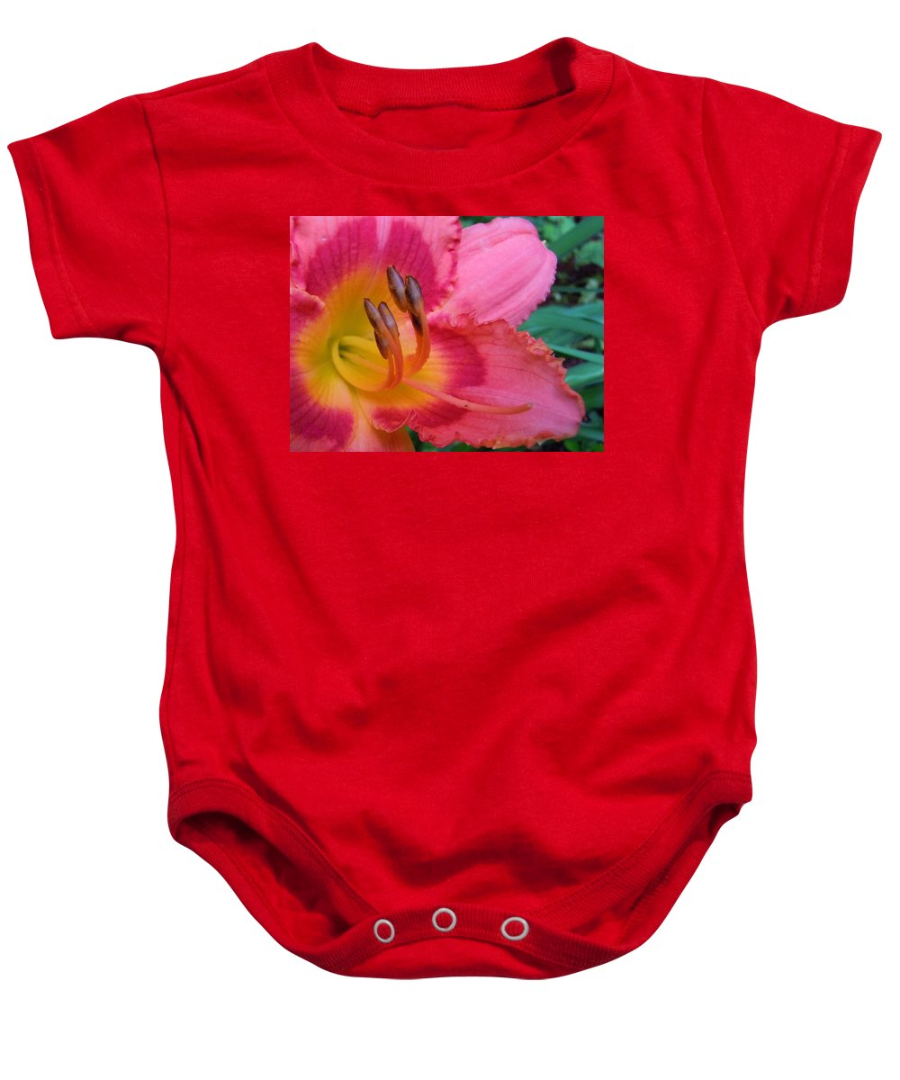 Flowers Baby Onesie featuring the photograph Reaching Out by Robert ONeil