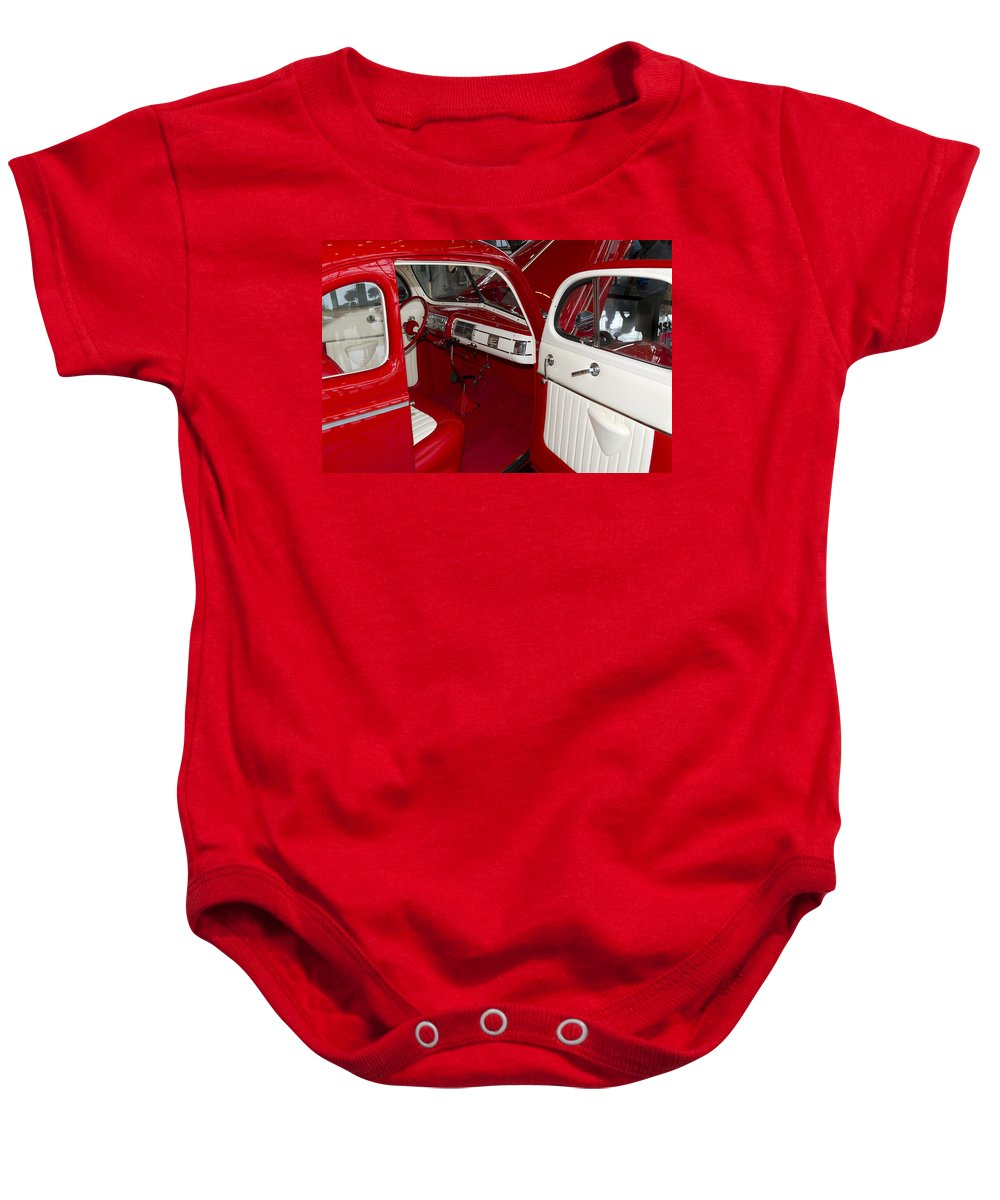 American Baby Onesie featuring the photograph Red And White by Jack R Perry